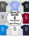 Tshirt Mockup Bundle 8 Colors Gildan 5000 Shirt Mock Up Etsy
