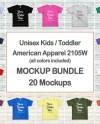 Kids Tshirt Mockup Bundle Toddler Shirt Mock Up Bundle 20 Etsy