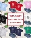 Kids Front Back Tshirt Mockup Bundle Toddler Back View Etsy