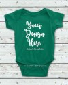 Green Baby Bodysuit Mockup Toddler Newborn Blank Infant Shirt Etsy