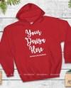 Christmas Red Hoodie Mock Up Gildan 18500 Heavy Blend Blank Etsy