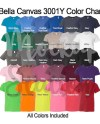 Color Chart For Bella Canvas 3001y T Shirt Template Digital Etsy