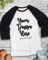 Black Christmas Raglan Mockup Winter Holiday Baselball Tee Etsy