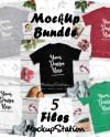 Christmas Shirt Mockup Bundle Gildan 64000 Tshirt 5 Colors Etsy