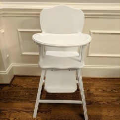 Retro High Chairs Babies Ikea Orange Chair Covers Baby Etsy Vintage Wooden Professionally Restored White With Gloss Clear Coat Perfect Highchair For S Birthday Pictures
