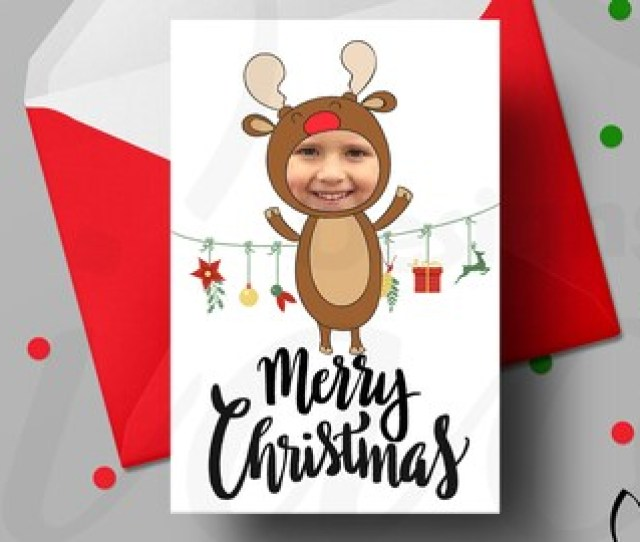 Printable Christmas Cards Customized Christmas Cards Christmas Card With Photo Cute Christmas Card Ideas Reindeer Card Instant Download