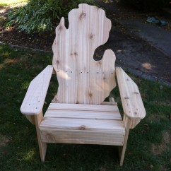 Michigan Adirondack Chair Rustic Table And Chairs Etsy Pine
