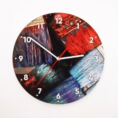 Wooden Kitchen Clock White Chair Etsy Oil Paints Silent Wall Modern Cool Farmhouse Rustic Large