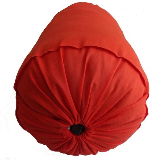 traversin orange pain de cou taie d oreiller decoratif long rond housse de coussin coton solide