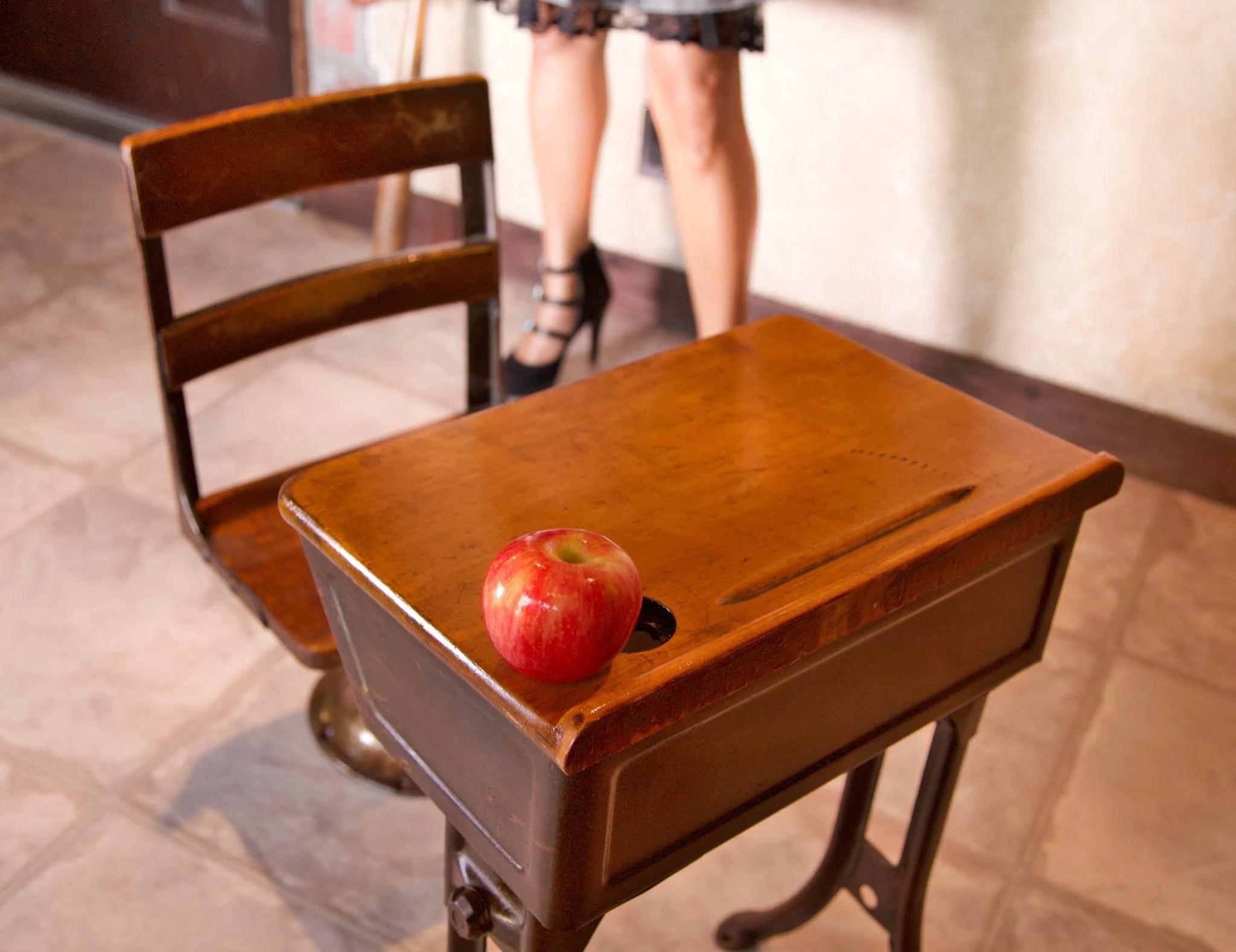 Antique School Desk With Drawer