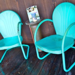 Turquoise Patio Chairs Hanging Chair Bunnings Etsy Metal Vintage Mid Century