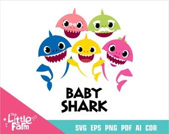 Baby shark svg  Etsy