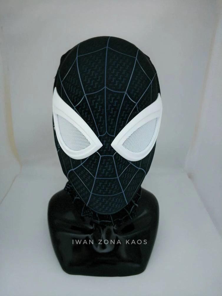 Spiderman Mask Shell : spiderman, shell, Negative, Spiderman, Shell, Lenses, Fabric