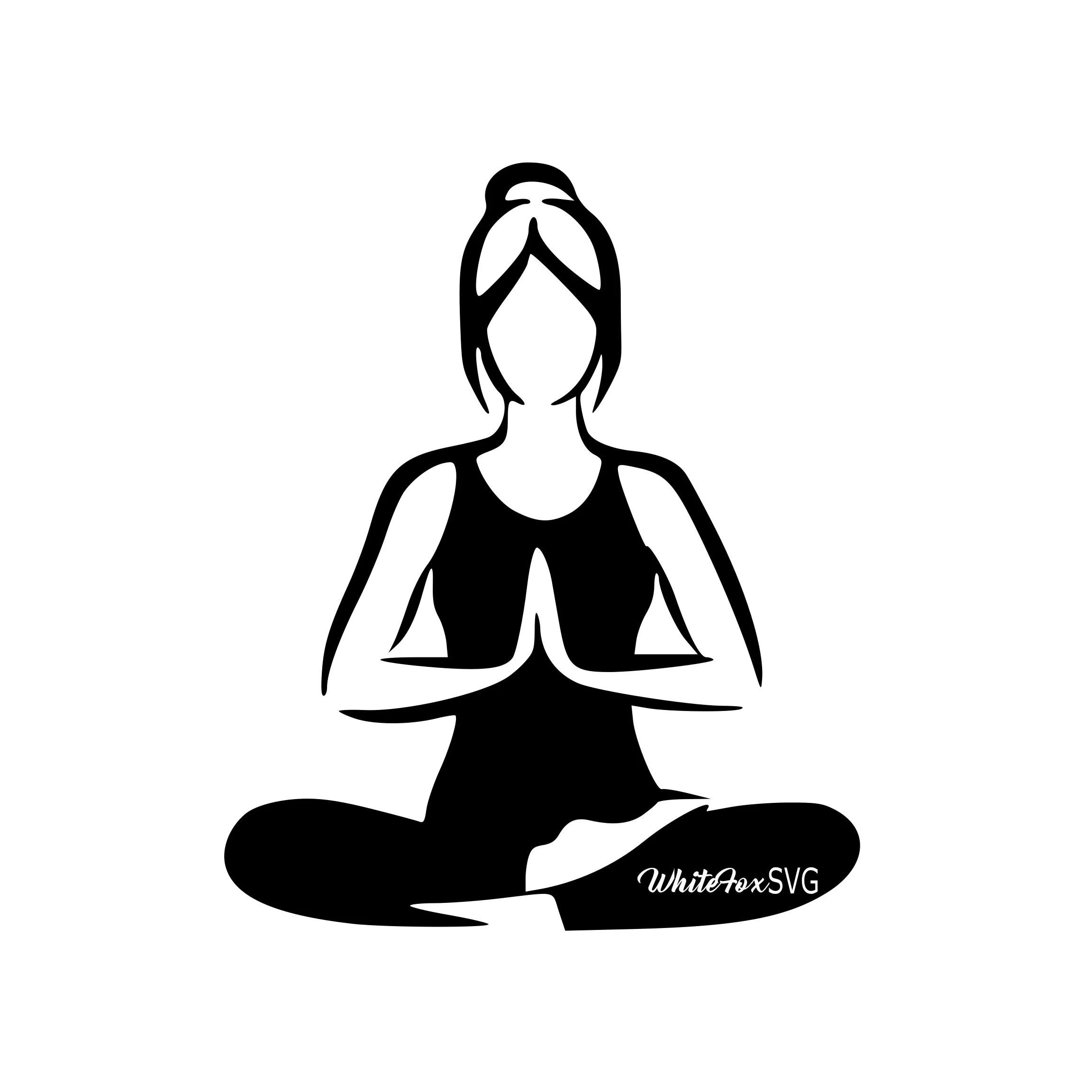 Yoga Svg Woman Girl Yoga Activity Health Gym Workout