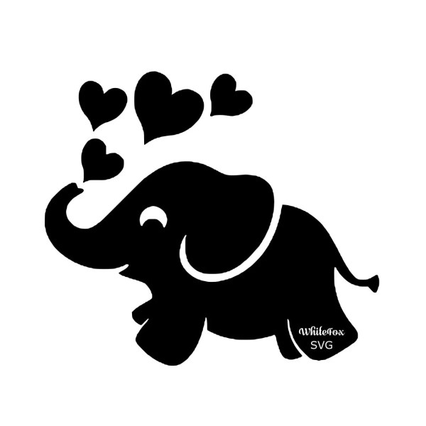 cute happy baby elephant dumbo