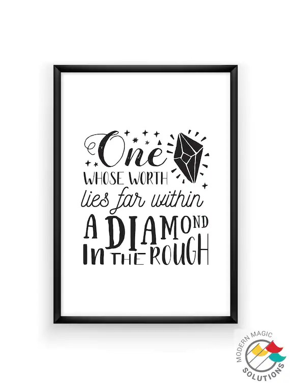 Diamond In The Rough Quotes : diamond, rough, quotes, Whose, Worth, Within, Diamond, Rough: