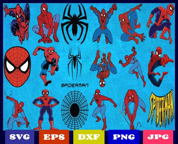 Spiderman Svg Superhero Marvel