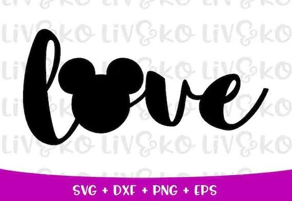 Download Disney love svg Love svg mickey head svg T-Shirt Svg | Etsy