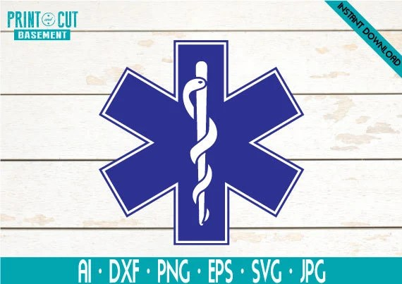 star of life svg nurse logo