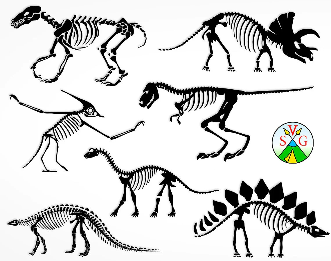 Sale Dinosaur Bones Svg Cut Files Dinosaur Cricut Files
