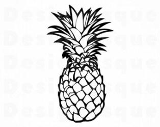 Pineapple outline Etsy