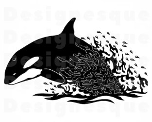 Killer Whale 3 SVG Orca SVG Killer Whale Clipart Orca Etsy