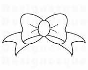 bow outline svg tie ribbon
