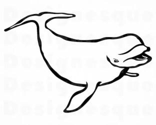Beluga Whale SVG Whale Svg Beluga Whale Clipart Beluga Etsy