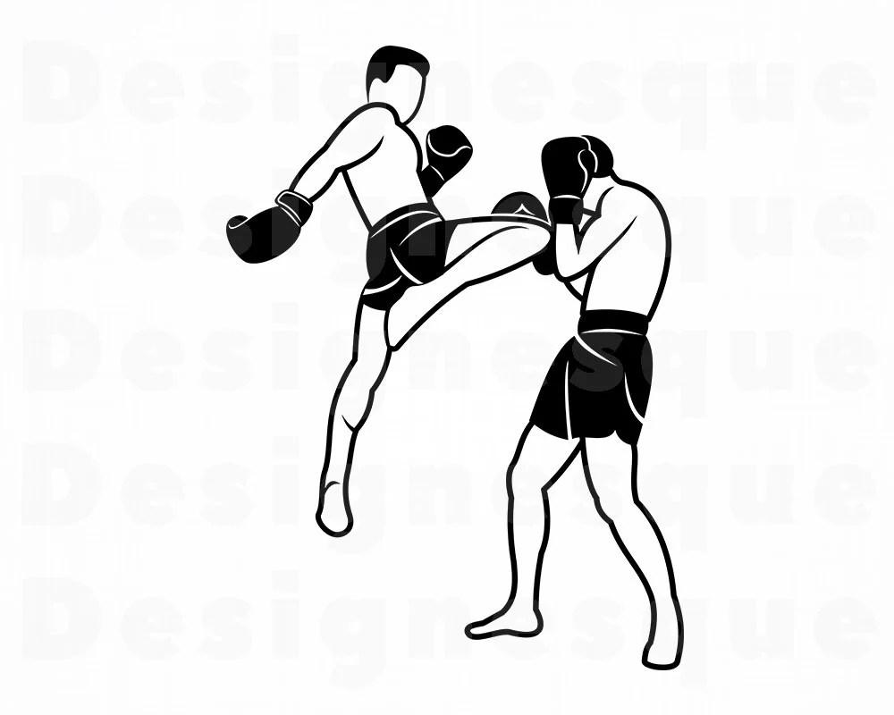 Muay Thai SVG Martial Arts Svg Muay Thai Clipart Muay Thai