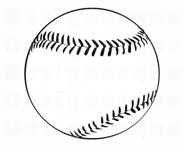 baseball outline 5 svg softball