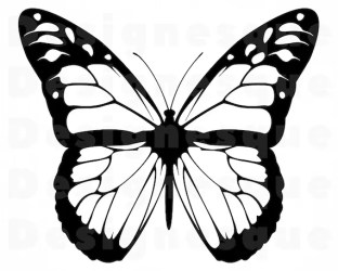 Monarch Butterfly Outline SVG Butterfly SVG Monarch Etsy