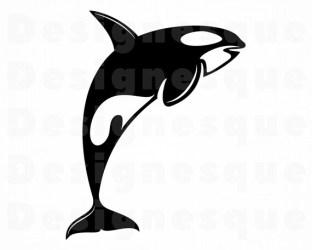 Killer Whale 2 SVG Orca SVG Killer Whale Clipart Orca Etsy