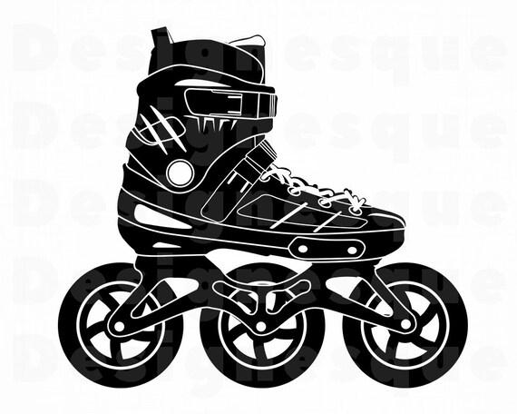 inline skates 4 svg
