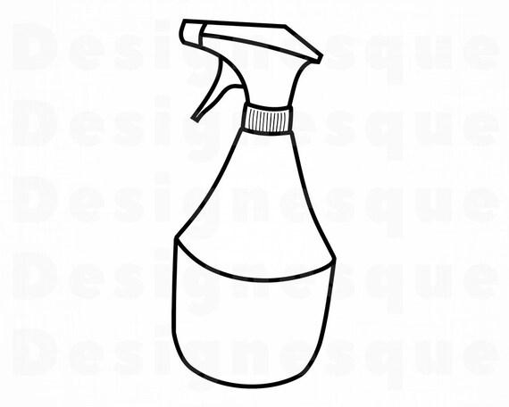 Spray Bottle SVG Hair Stylist SVG Barber Svg Cleaning Svg