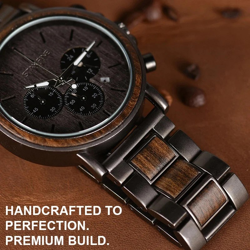 Fathers Day Gift for DadMens WatchWood WatchWooden image 4