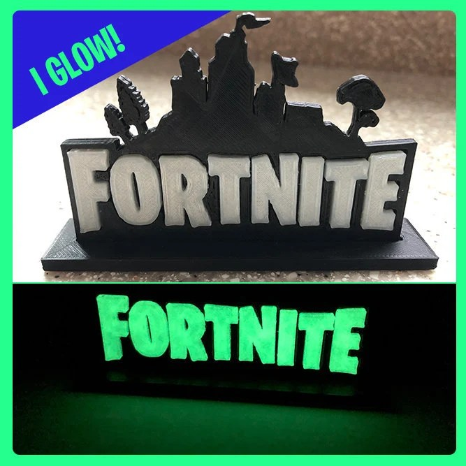 Fortnite Logo Stand Birthday Cake Topper Desk or Bedroom