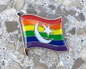 "The ""Mira"" LGBTQ Pride Muslim Islam Crescent Rainbow Pin Badge for Lapels, Shirts, Backpacks, Hats, etc..."