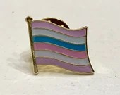 "The ""Pat McCrory"" INTERSEX/BIGENDER (LGBTQ) Pride Flag Silver-Back Pin Badge for Lapels, Shirts, Backpacks, Hats, etc..."