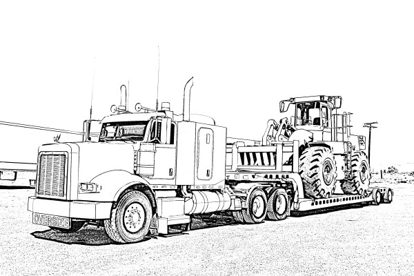 big truck coloring pages # 7