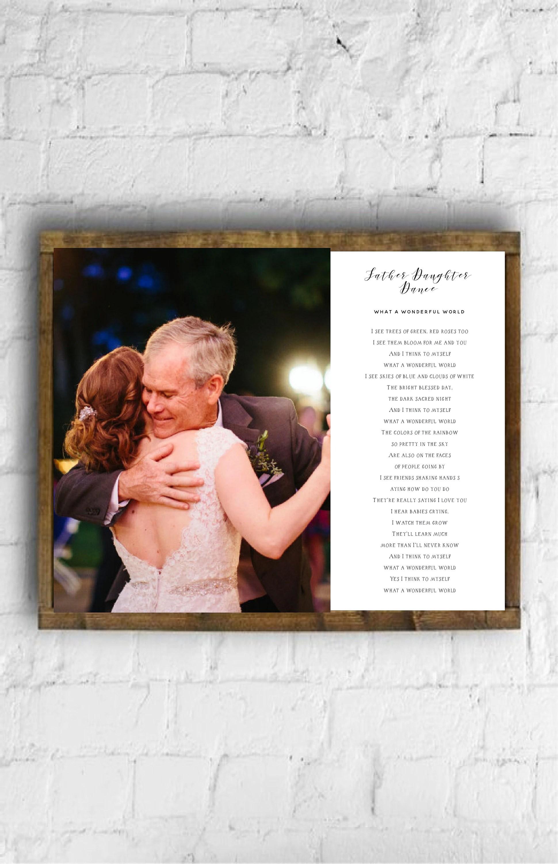 framed father daughter wedding