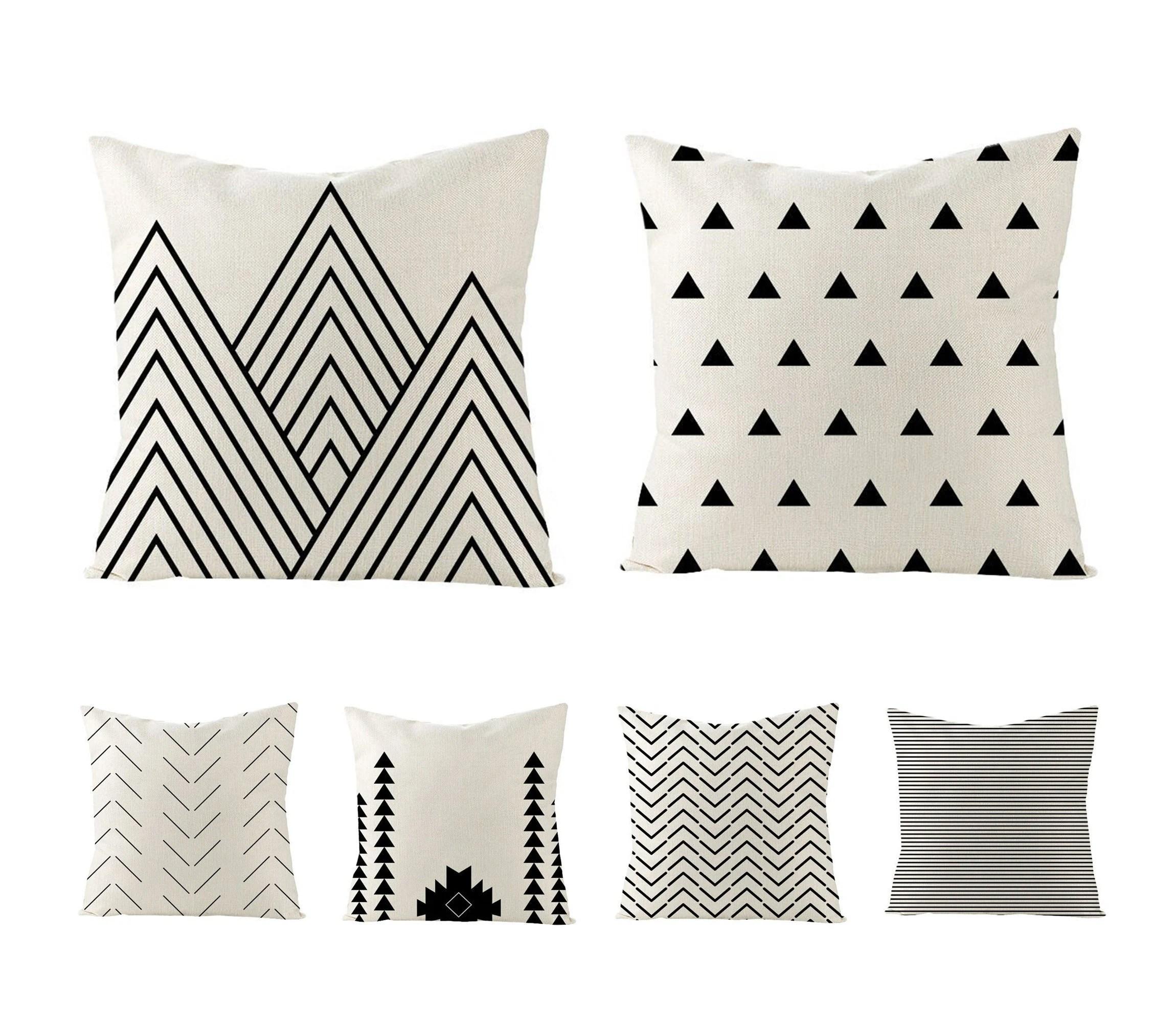 geometric pillow etsy