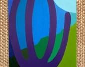 "ORIGINAL Acrylic Painting: ""Organ Pipe Mosaic"" | 8x10"" | Acrylic on Wood Panel"