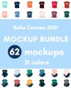 Bella Canvas 3001 T Shirt Mockup Bundle T Shirt Mockup Mock Up Etsy