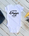White Bodysuit Mock Up With Infant Jeans And Safari Animals On Etsy