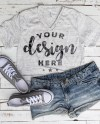Tshirt Mockup White Marble Bella Canvas Vneck Template On Etsy