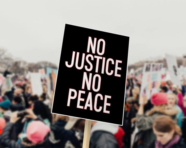 No Justice No Peace PRINTABLE Poster  DIGITAL DOWNLOAD image 0