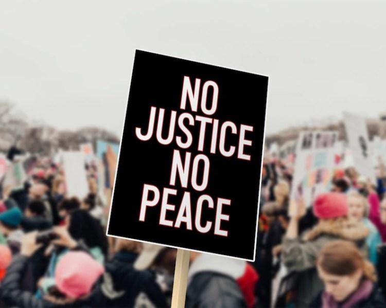 No Justice No Peace PRINTABLE Poster  DIGITAL DOWNLOAD image 0