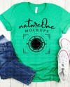 Bella Canvas 3001 Heather Kelly Mockup Lifestyle Shirt Etsy