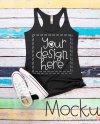 T Shirt Mockup Bella Canvas Gray Tank Top Mockup Ladies Gray Etsy