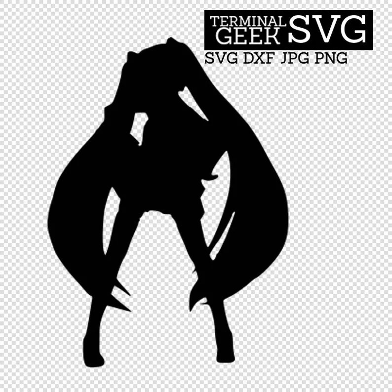 Download Hatsune Miku Anime Japan SVG DFX JPG Cricut Cut File | Etsy